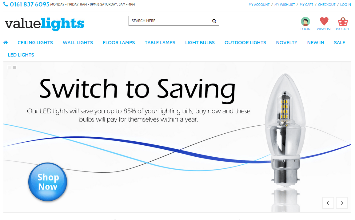 Lighting commerce coupon code