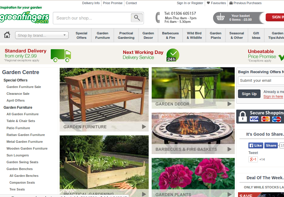 Greenfingers discount codes homepage image. Greenfingers Discount Codes   Voucher Codes   75  Off