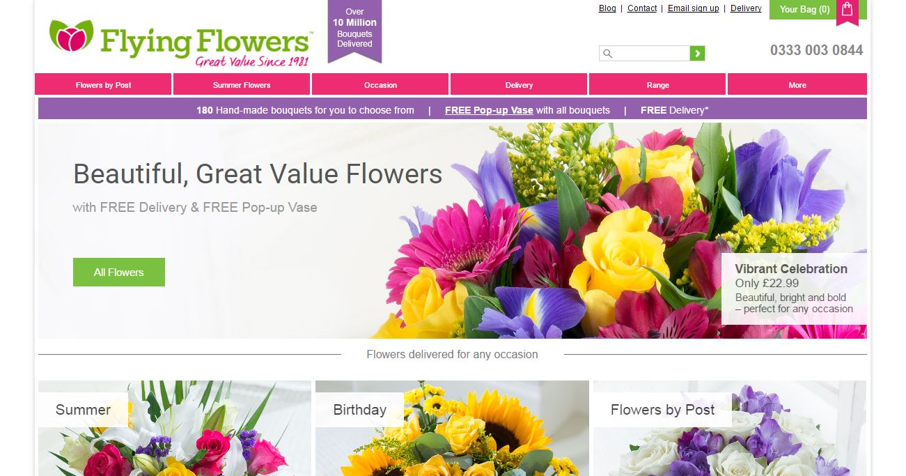 Discounts average $3 off with a Teleflorist UK promo code or coupon. 11 Teleflorist UK coupons now on RetailMeNot.