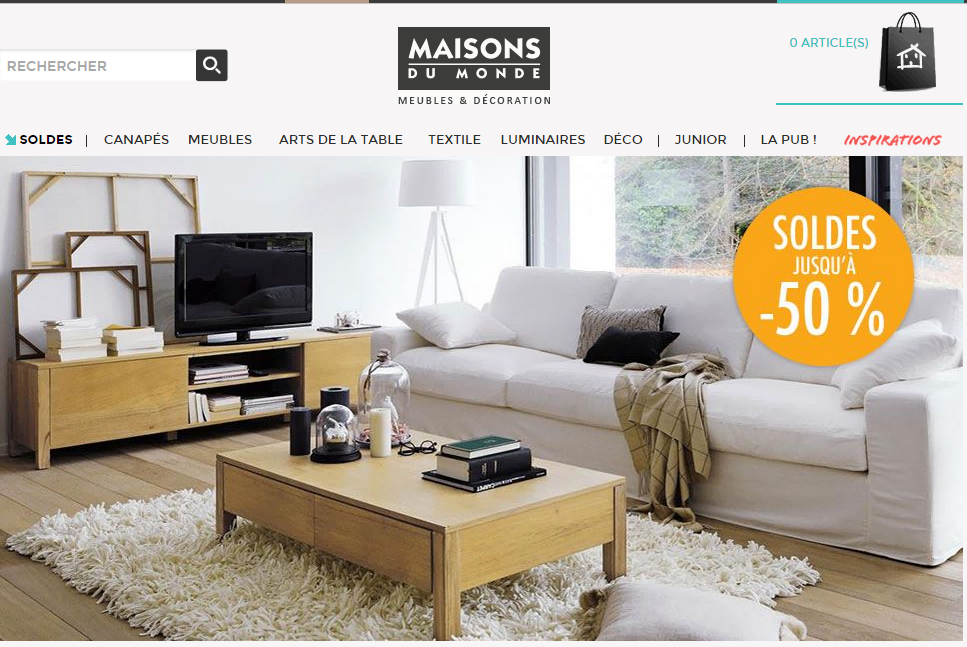 free a propos de maisons du monde with maison du monde solde. Black Bedroom Furniture Sets. Home Design Ideas